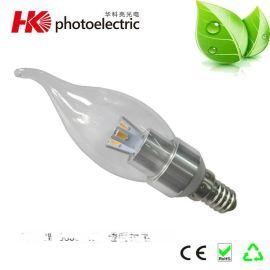 厂家直销LED蜡烛灯E14可调光 3W 5630灯珠 超亮节能蜡烛灯