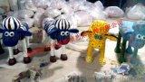 厂家供应 小羊彩绘羊模型 肖恩玻璃钢雕塑 卡通雕塑羊年展出租赁