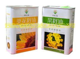 專業生產馬口鐵食用油罐 茶油罐鐵罐包裝 5升馬口鐵油罐 1.6升3升油罐 食用油罐生產廠家