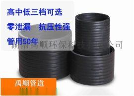 浏阳hdpe钢塑缠绕管厂家批发 禹顺DN300