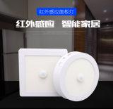 18w圓形感應面板燈led紅外人體圓形面板燈明裝