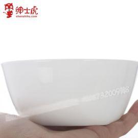 绅士虎创意日式餐具陶瓷器白瓷泡面碗汤碗汤盘家用拉面碗批发定制
