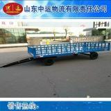 10T带车尾灯平板拖车 重型平板拖车厂家