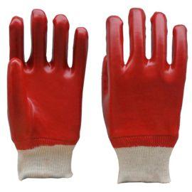 顺兴厂家直销 PVC手套 劳保用品 防护 安全 红色光面耐油耐酸碱26cm