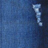 梭织竹节棉粘弹力面料 全棉弹力牛仔布 蓝黑色牛仔裤布料