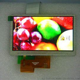 厂家直销4.3寸TFT液晶显示屏 车载导航显示屏 常规40PIN可带触摸