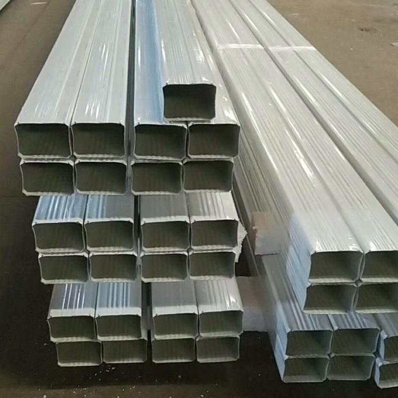 上海供应144*108型/95*133型彩钢落水管 彩钢雨水管 彩铝落水管 金属雨水管 方型落水管 矩形落水管排水管