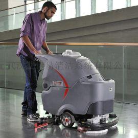高美大型手推双刷全自动洗地车 工业及商用洗地机 GM85BT