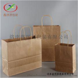 北京牛皮纸手提袋 外卖打包手提袋厂家