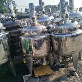 转让二手500L全不锈钢材质电加热反应釜
