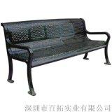 广州公园椅长凳户外园林椅铸铁长条排椅广场椅厂家