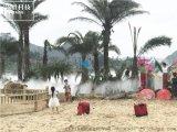 沙滩游乐园喷雾冷雾降温设备高压水雾降温设备避暑神器