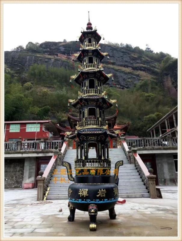 温州铸铁寺庙故宫宝鼎、大型五层七层宝鼎铸造生产厂家