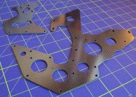 碳纤维模型配件