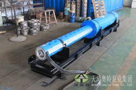 景观水池500方流量卧式潜水泵_地下水源提升设备