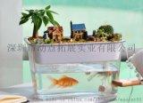 亚克力小型懒人免换水鱼缸 小型鱼缸 生态鱼缸