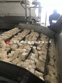 鱼豆腐成套设备多少钱, 湖南全自动款鱼豆腐油炸机