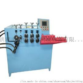 全伺服钢筋铁线自动打圈机 扁铁方钢卷圆机