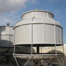 青岛玻璃钢冷却塔,散热片圆形冷水塔,逆流式冷却水塔