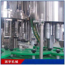 全自动果汁灌装机 塑料瓶热灌装机 三合一热灌装机