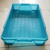 厂家直销食品医药多功能塑料周转箱物流箱可翻盖套叠箱 量大从优