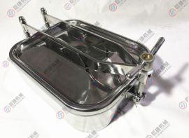 卫生级快开方形人孔 304不锈钢人孔 常压方形人孔