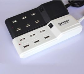 SPEEDY6口USB充电器输出5V7.1A多口USB充电器