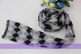 好蘭朵2014新品男款羊絨竹纖維圍巾