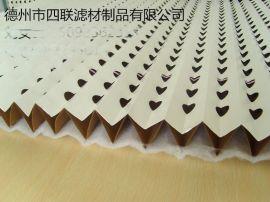 供应厂家生产 喷漆房  过滤纸褶皱式 V型带棉油漆过滤纸