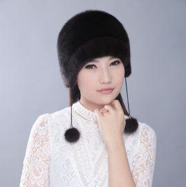 水貂皮草帽進口貂皮時尚保暖民族無沿圓頂女帽