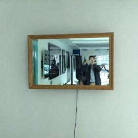 32寸带边框镜面防水液晶电视/带木质边框镜子防水电视