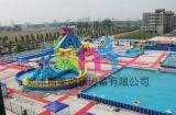 百美猴年新款水上欢乐园,四道冲浪水上充气滑梯定做厂家