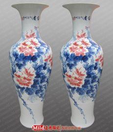 定做客厅落地大花瓶,景德镇陶瓷大花瓶定做厂家