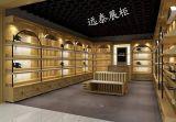 深圳高档品牌密度板烤漆木皮贴面箱包鞋店展示柜厂家直销