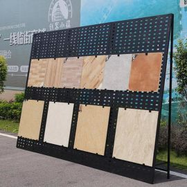 新型立式瓷砖展示架批发 放地板砖的铁架子 瓷砖样品的展示架厂家