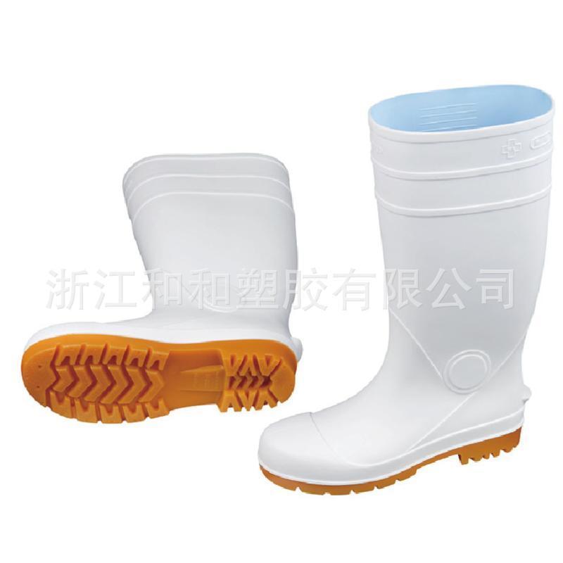 693防滑白色短款样式精美雨靴耐磨PVC实用定制雨鞋