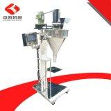 淀粉葡萄糖粉灌装机 工厂定制半自动粉末灌装机+自动上料机