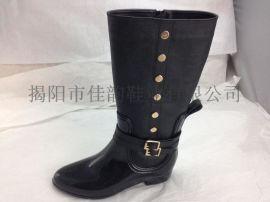 厂家供应2015新款时尚女士时装高筒雨靴