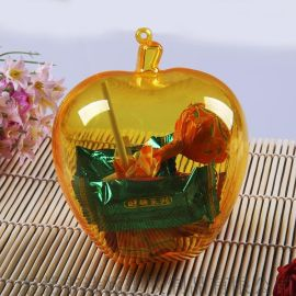 厂家直销 苹果造型 塑料包装盒 干果食品专用DIY包装