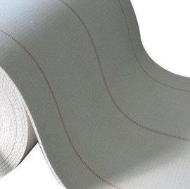 全棉耐高温帆布输送带 黑色PVC菱形方格纹输送带