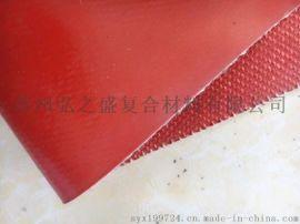 银灰色玻璃纤维硅胶布 聚氨酯防火玻纤布 灰色防火布