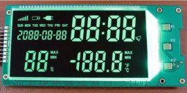 温湿度计LCD液晶显示屏黑膜负显