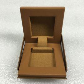 介指盒 羊皮介指盒 真皮戒指盒  真皮LED灯珠宝盒