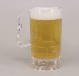 300ml 啤酒 马克杯 塑料啤酒杯