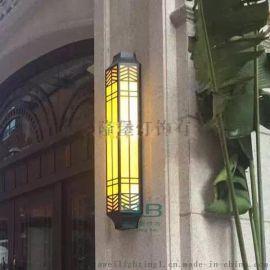 户外仿云石壁灯批发大理石壁灯异形非标工程灯具定制厂家