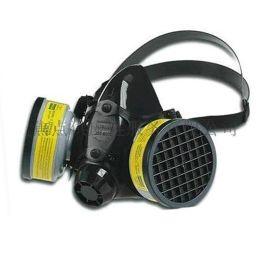 霍尼韦尔 硅胶双滤盒硅胶半面型面罩大号 防护面罩 770030M(滤盒N75001)