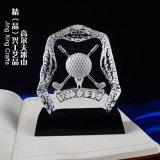 高尔夫球俱水晶奖杯奖牌  送领导水晶纪念品摆件