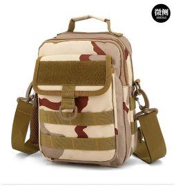 定制單肩迷彩包 斜挎包 戶外野營背包來圖打樣可添加logo