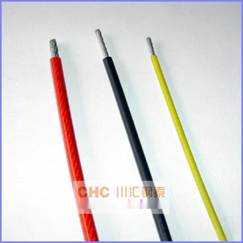 鍍鋅包膠鋼絲繩,包塑耐磨彩色鋼絲繩