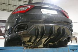 玛莎拉蒂GT引擎机盖改装DMC后唇GTS尾翼